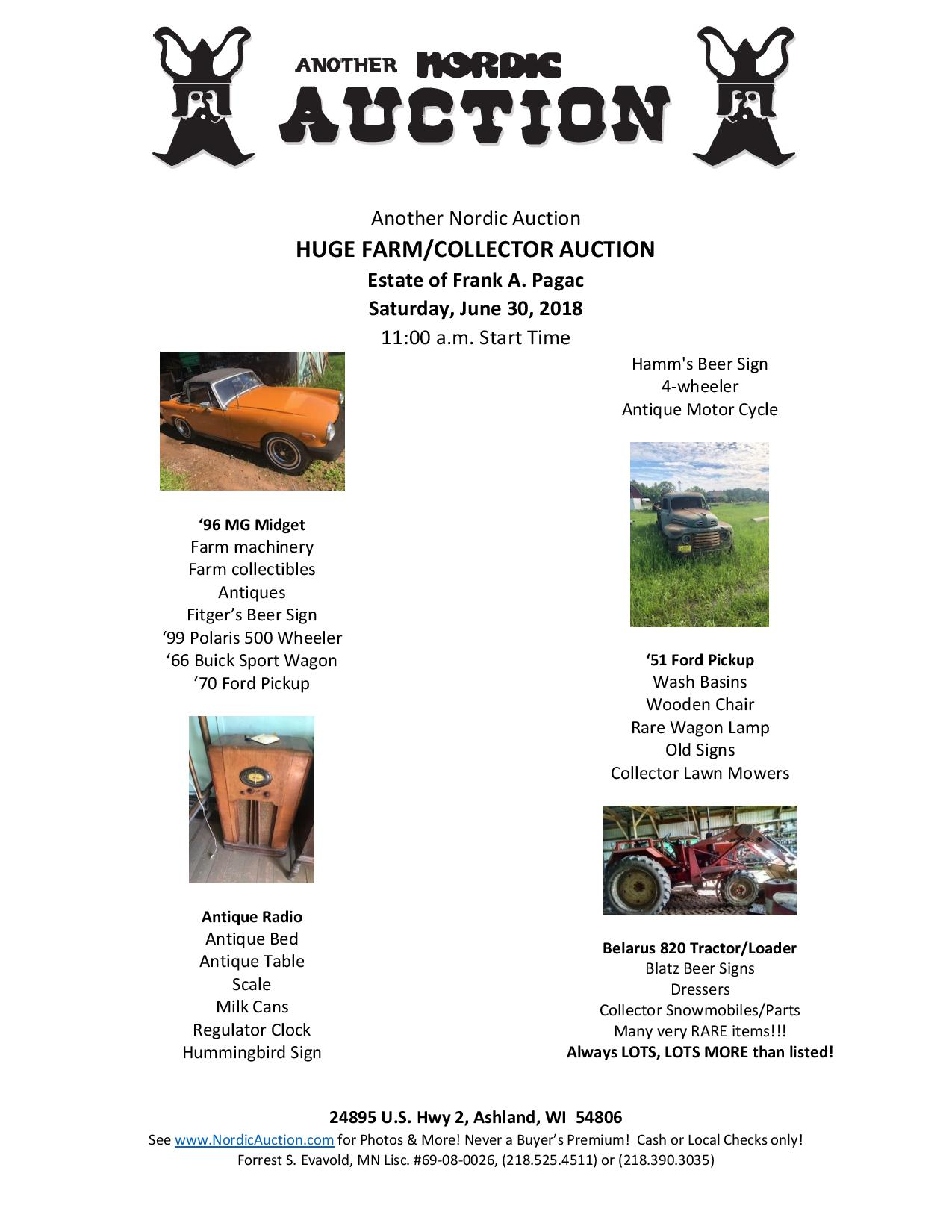 HUGE FARM/COLLECTOR Auction (June 30) @ Duluth | Minnesota | United States