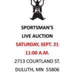 SPORTSMAN Auction (Sept. 21) @ Island Lake Inn | Duluth | Minnesota | United States