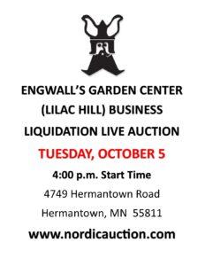 ENGWALL'S GARDEN CENTER Business Liquidation (Oct. 5) Duluth, MN @ Duluth | Minnesota | United States