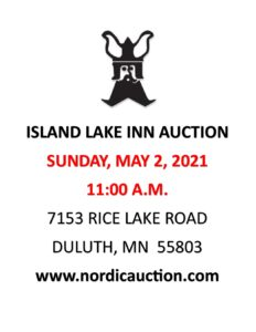ISLAND LAKE INN Annual Spring Auction (May 2) @ Island Lake Inn | Duluth | Minnesota | United States