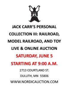 Jack Carr's Private Collection - Railroad, Model Railroad, & Toys