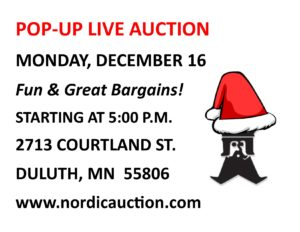 Nordic's MONDAY Night Auction (Dec. 16) POP-UP AUCTION!